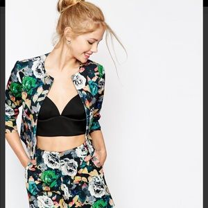 Asos jacket in photographic floral print